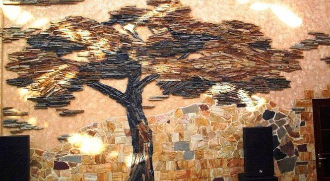 Использование декоративного камня для внутренней отделки в фото